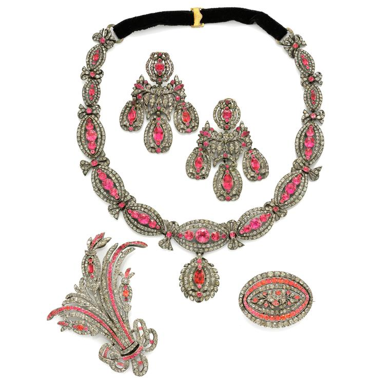 Rare Georgian paste parure