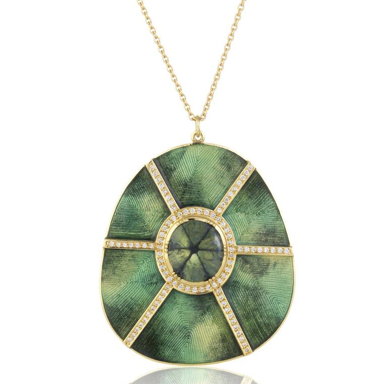 Brooke Gregson Mandala trapiche emerald necklace