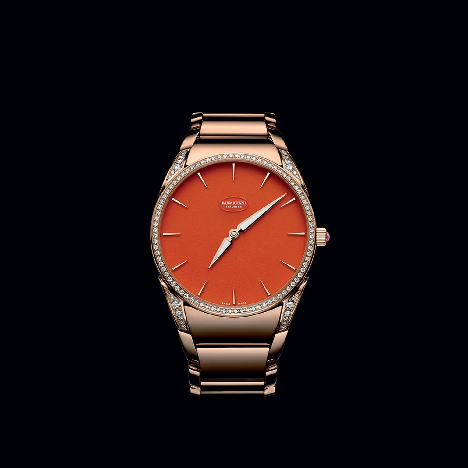 Parmiginai Tonda 1950 Poppy watch with an aventurine dial