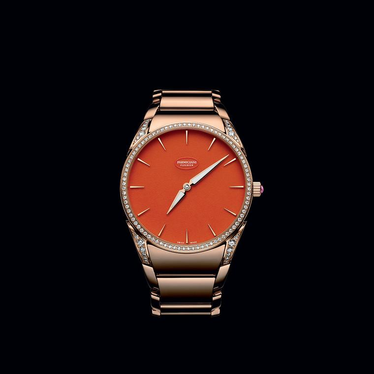 Tonda 1950 Poppy watch with an aventurine dial