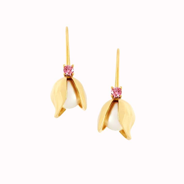 Tessa Packard Orchid drop earrings