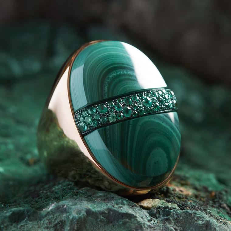 Pomellato Armonie Minerali Rhapsody in Green ring