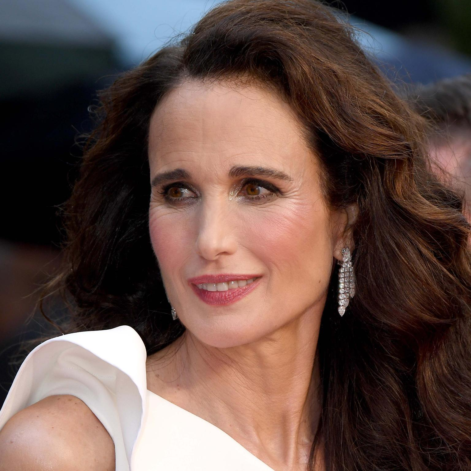 Andie MacDowell in Chopard jewels Cannes Film Festival 2019