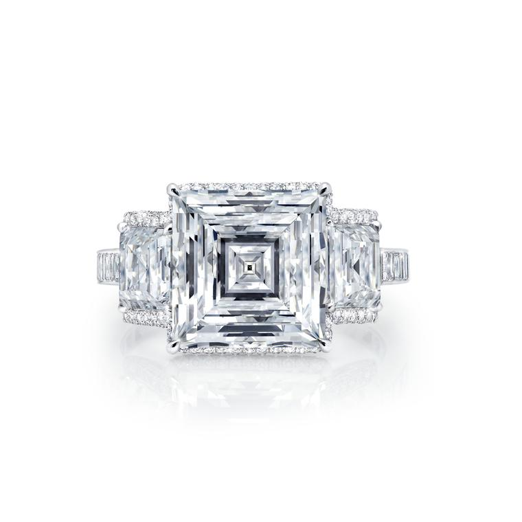 Martin Katz square-cut engagement ring