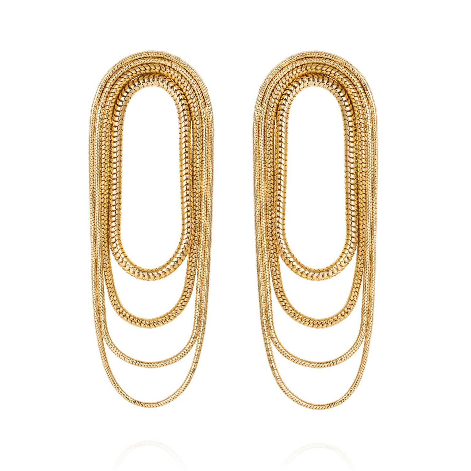 Fernando Jorge Parallel Multi-Chain earrings