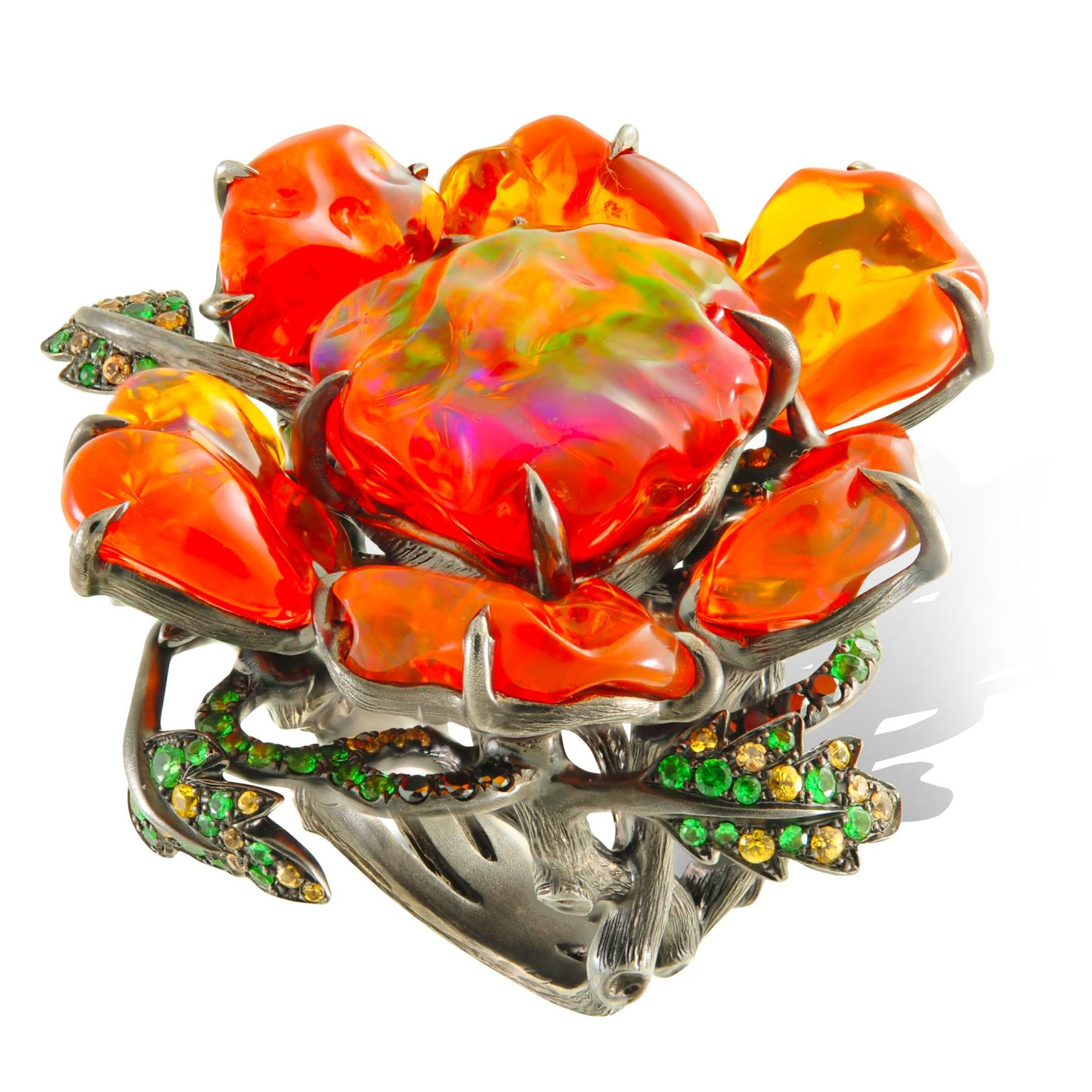 Lydia Courteille fire opal ring