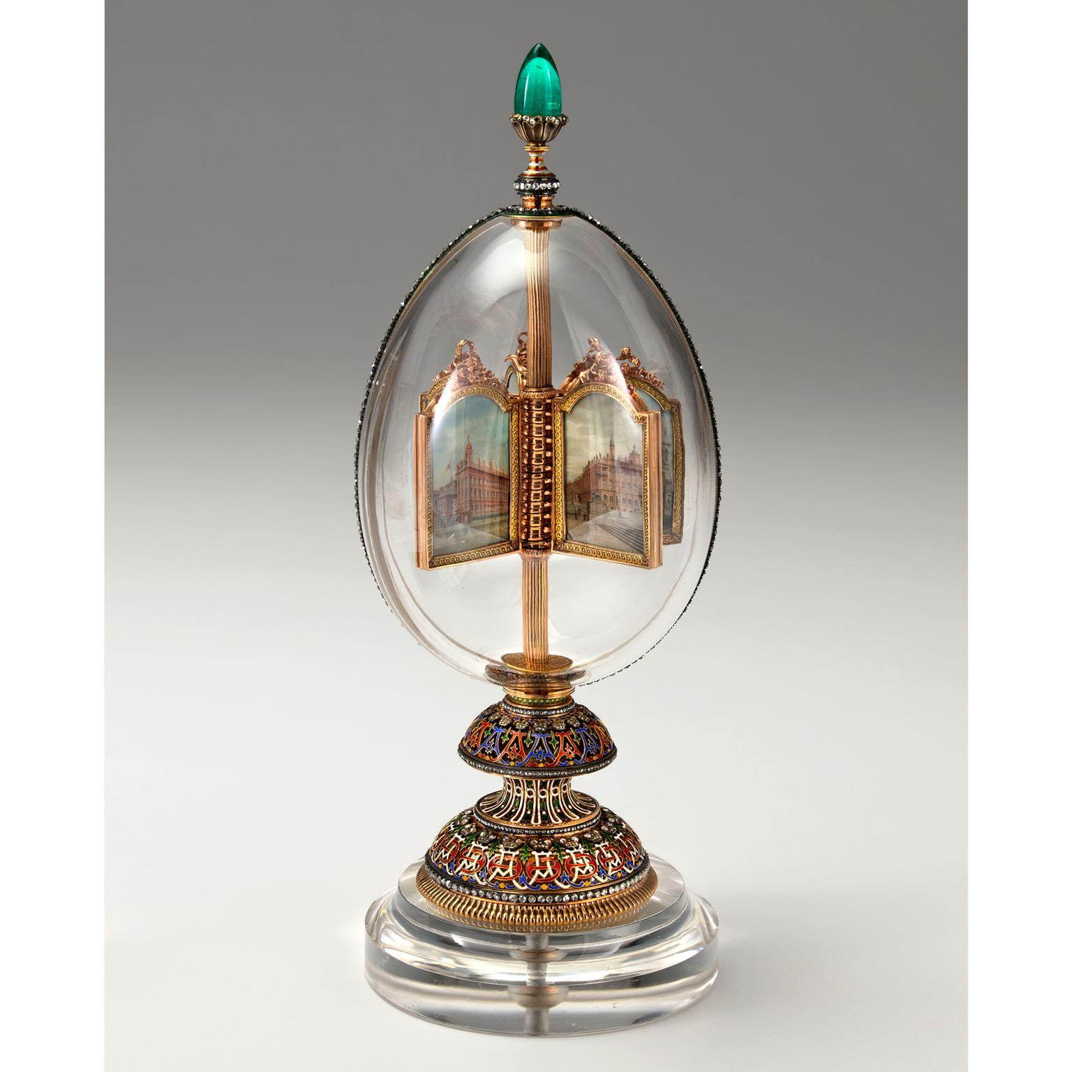 Faberge Imperial Rock Crystal Easter egg
