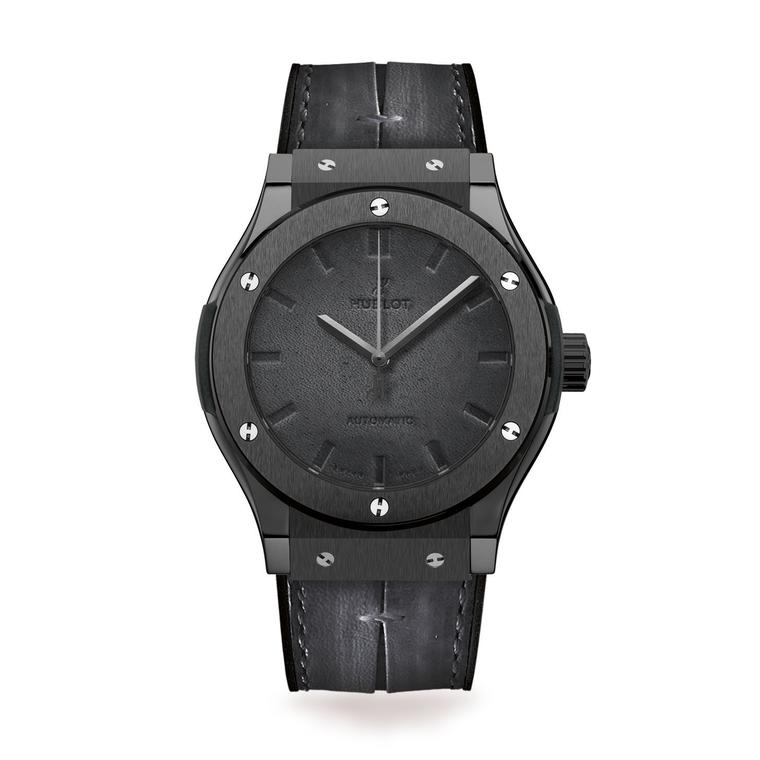 Hublot Classic Fusion watch with Berluti black leather strap