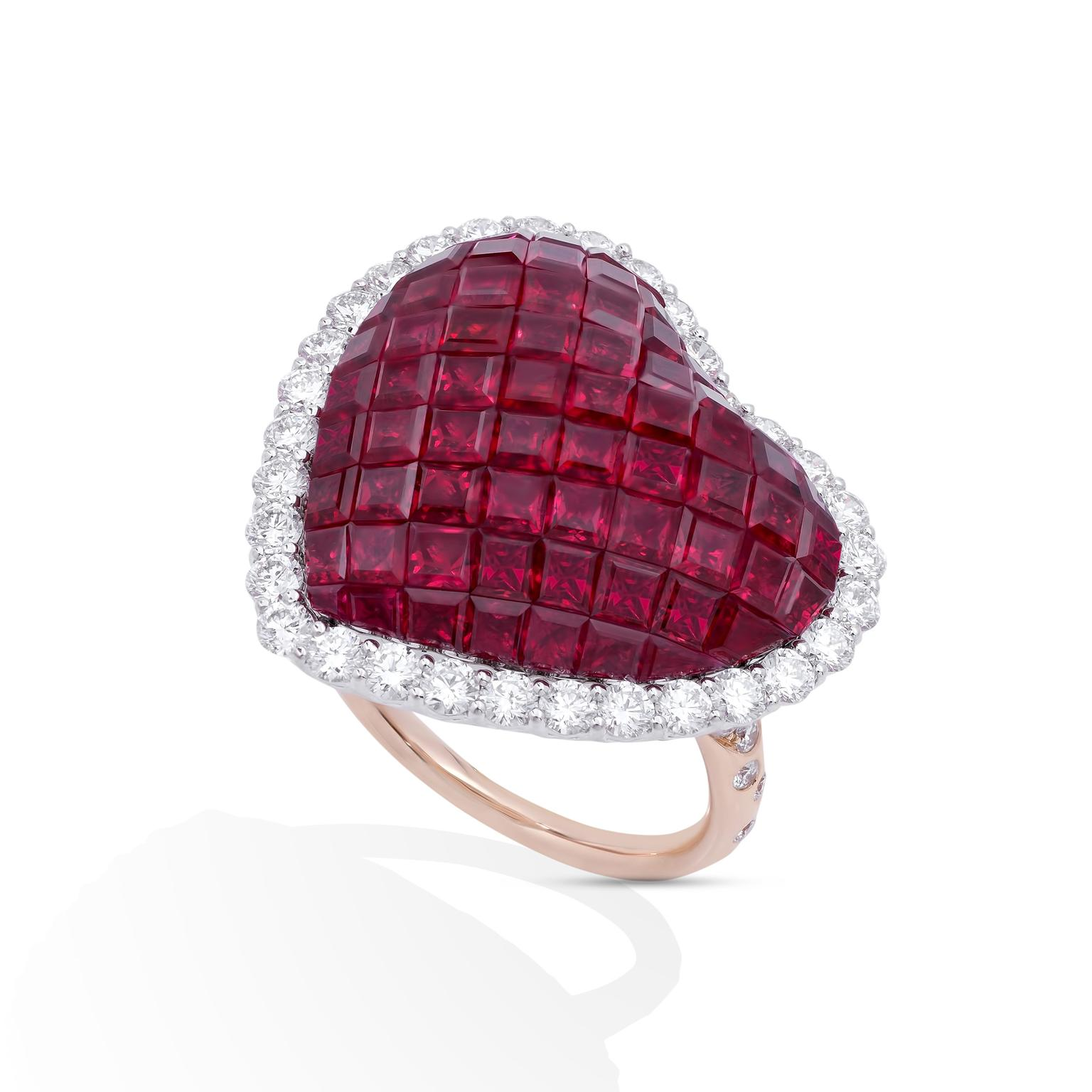 Stenzhorn Love Keepers Mosaic ruby ring