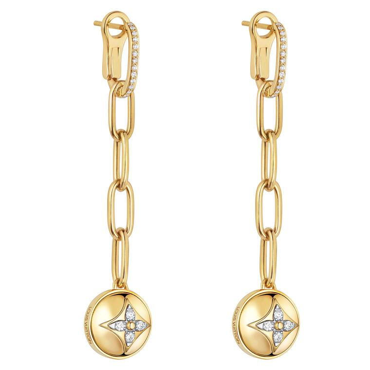 Louis Vuitton B.BLossom earrings in yellow gold