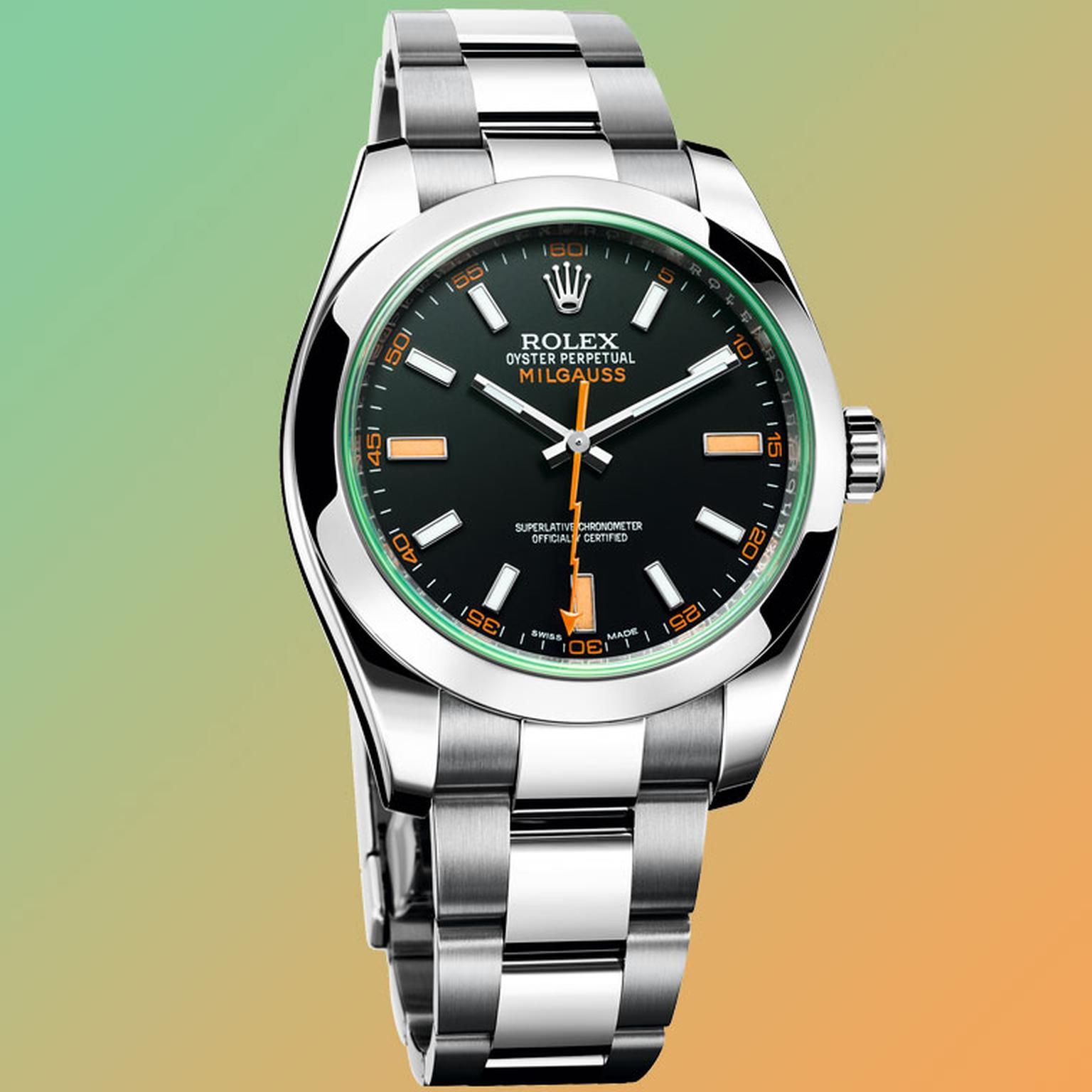 Oyster perpetual milgauss watch rolex the jewellery editor for Rolex milgauss