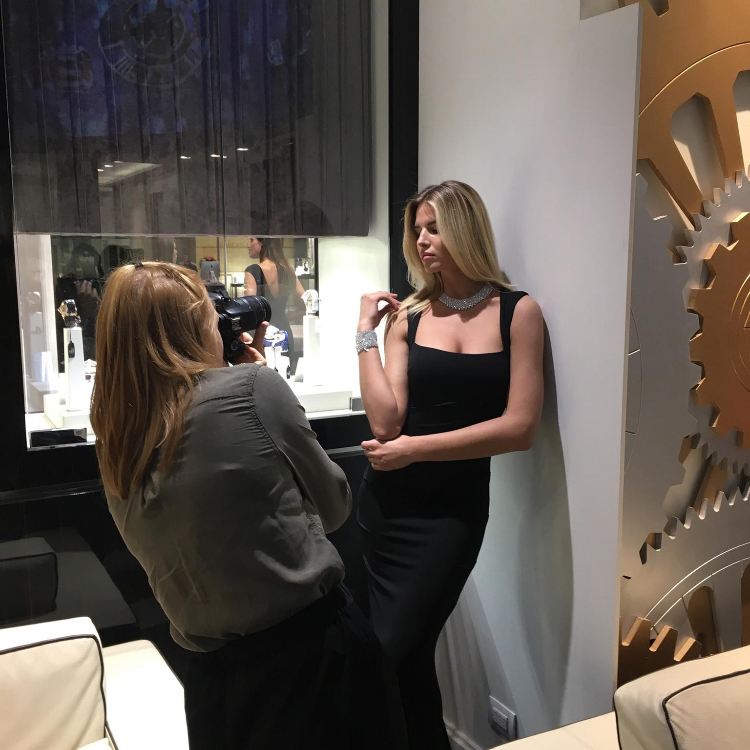 Baselworld 2017 Amy taking pictures