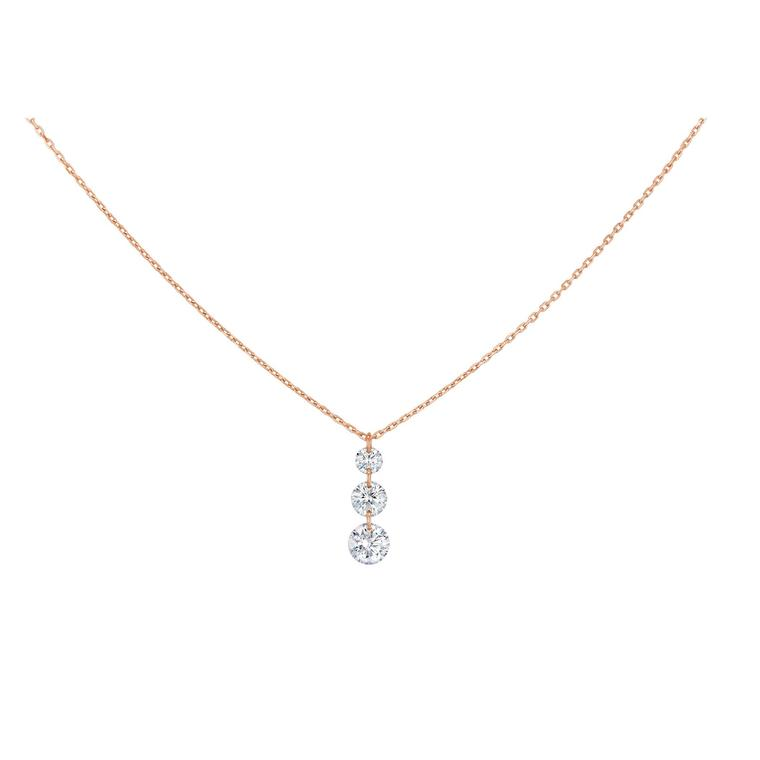 La Brune & La Blonde 360° Trio necklace with brilliant-cut diamonds in gold