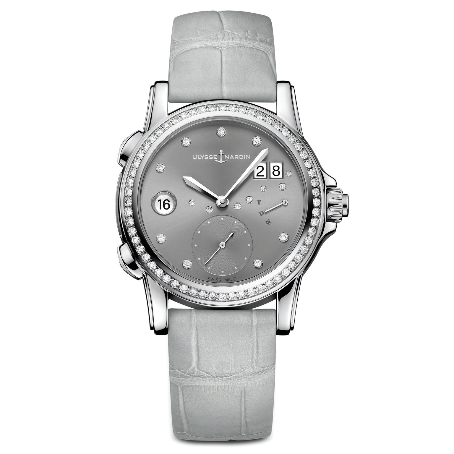 Ulysse Nardin Classic Lady Dual Time watch silver dial