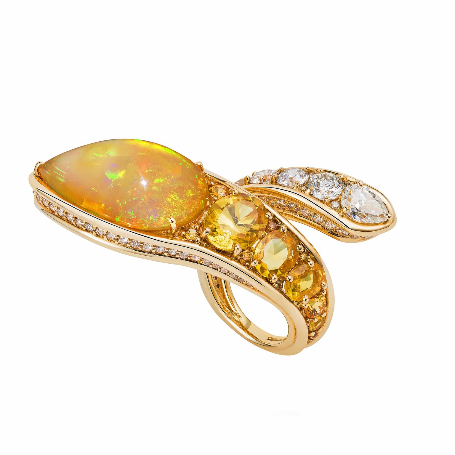 Fernando Jorge opal and diamond ring