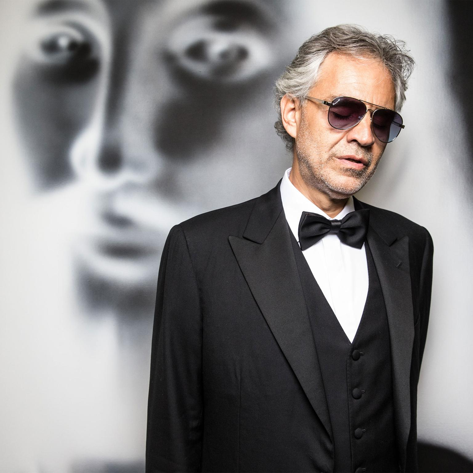 Andrea Bocelli at the Elton John AIDS Foundation