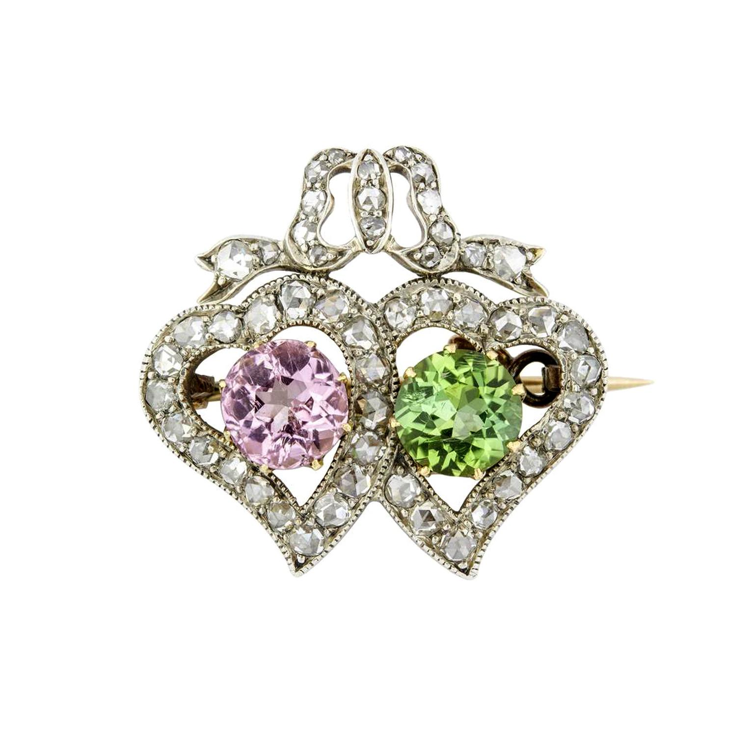 Bentley & Skinner Victorian heart brooch
