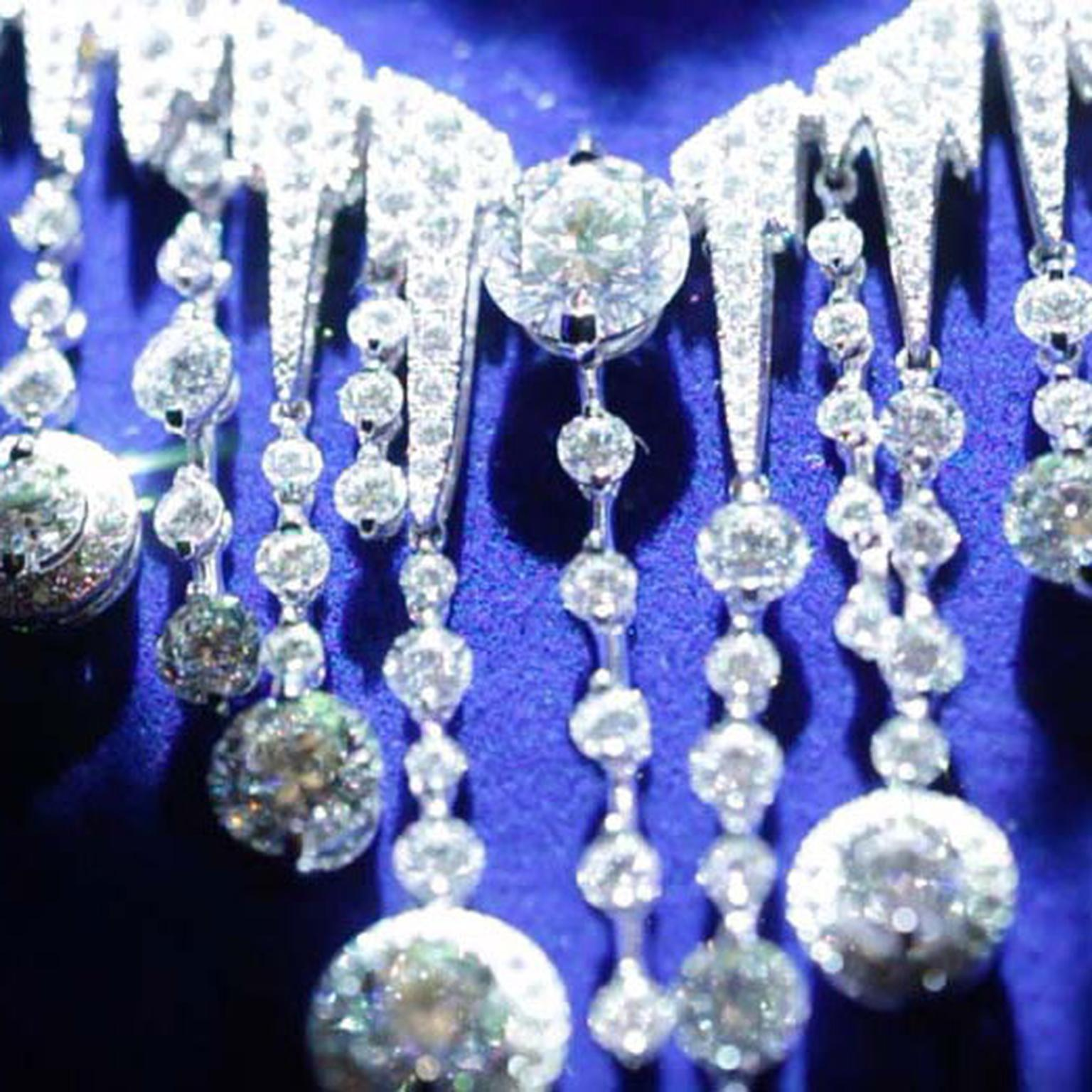 Chaumet Frozen diamond necklace from the new Lumières d'Eau high jewellery collection.