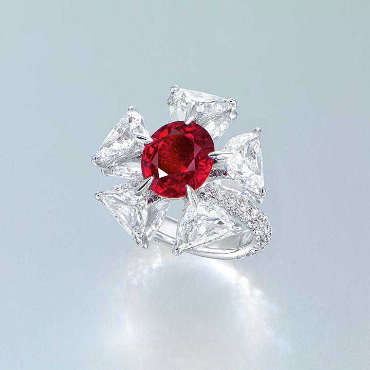Edmond Chin diamond and ruby ring