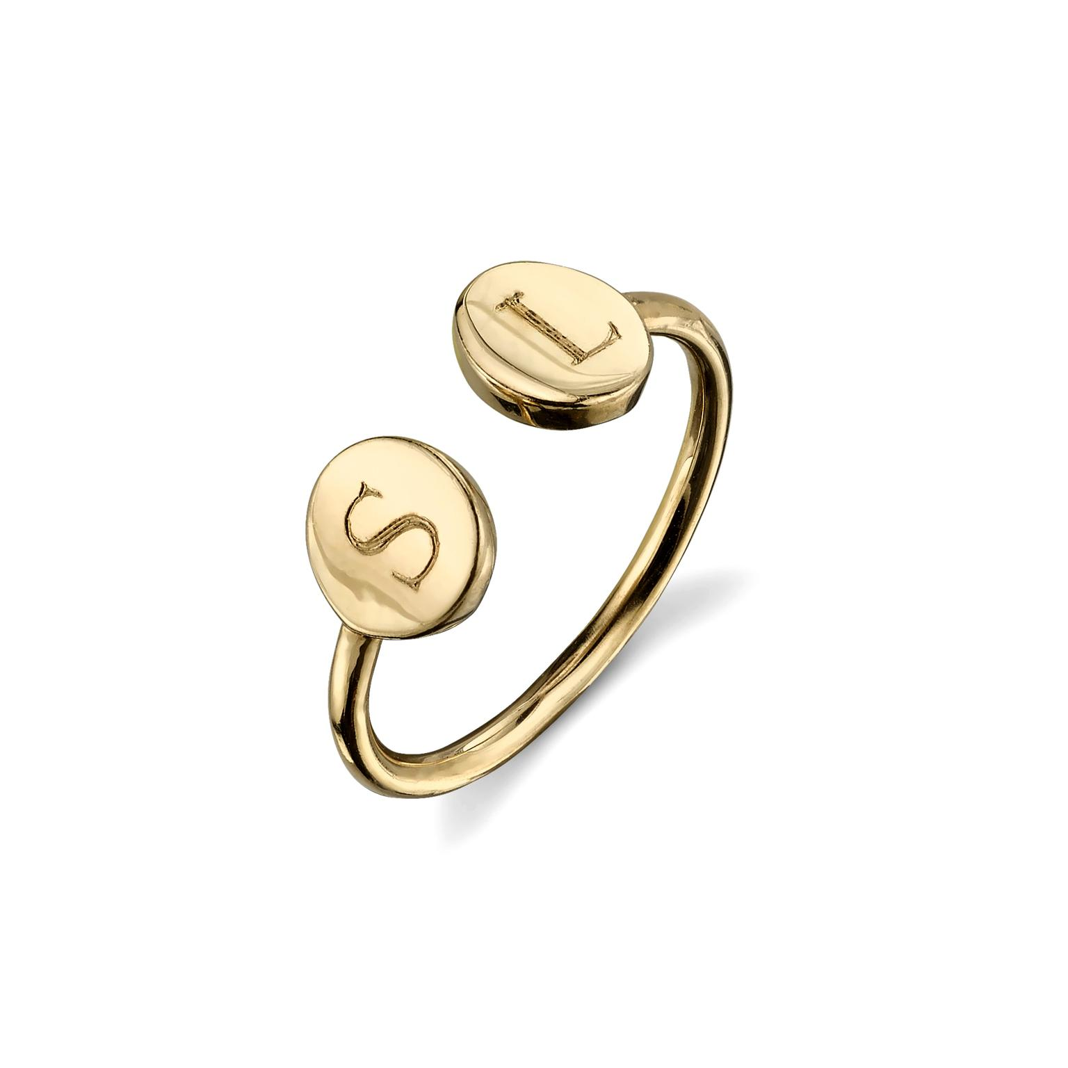 Sarah Chloe Rocha open ring in yellow gold
