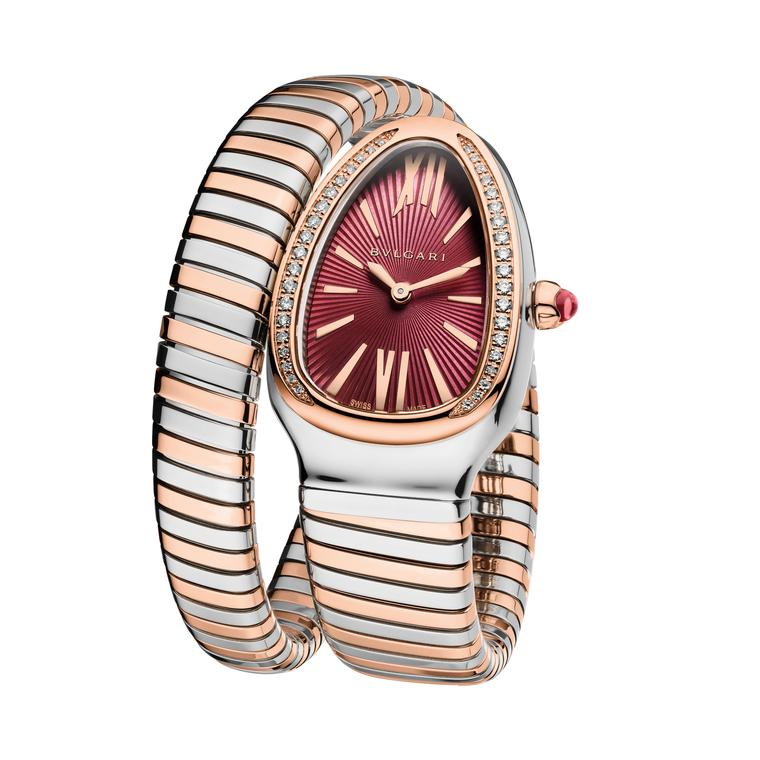 Bulgaria Serpenti Tubogas watch in pink gold