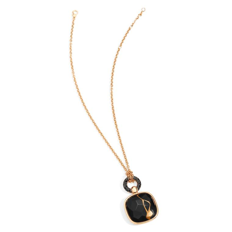 Pomellato Kintsugi Collection_pendant in rose gold with jet and balck diamonds