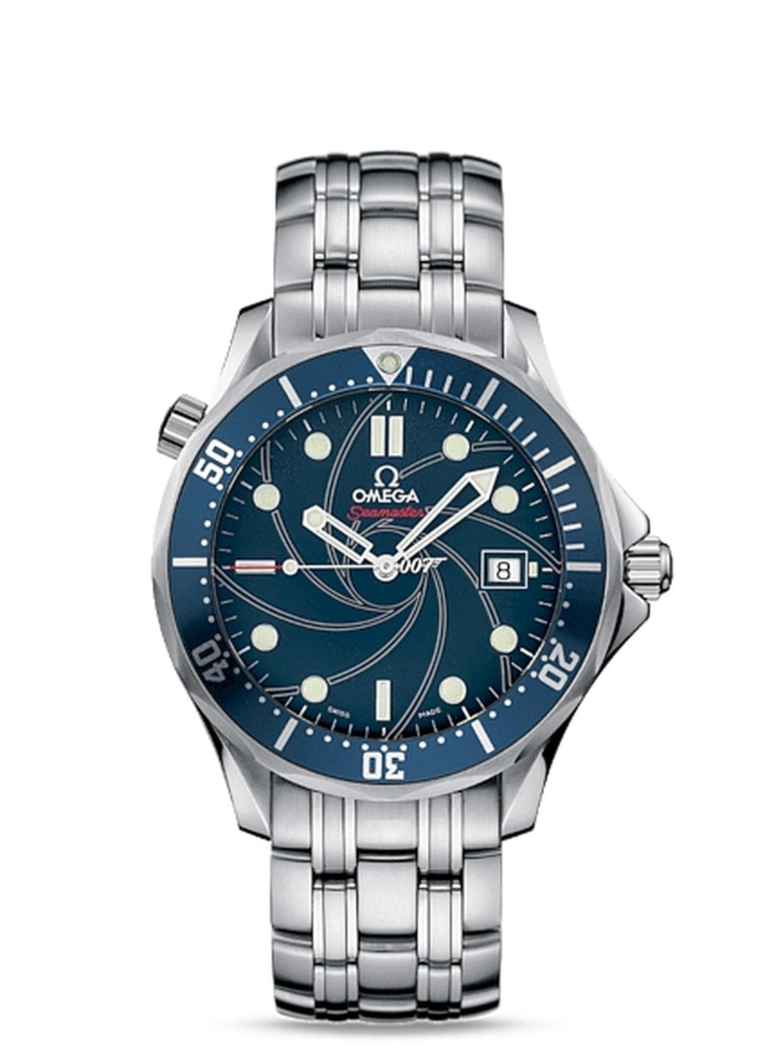 The limited-edition James Bond Omega Seamaster 300m chronometer watch.