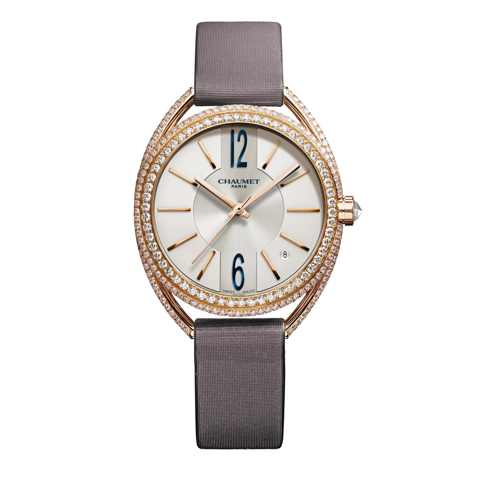 Liens de Chaumet pink gold and diamond watch