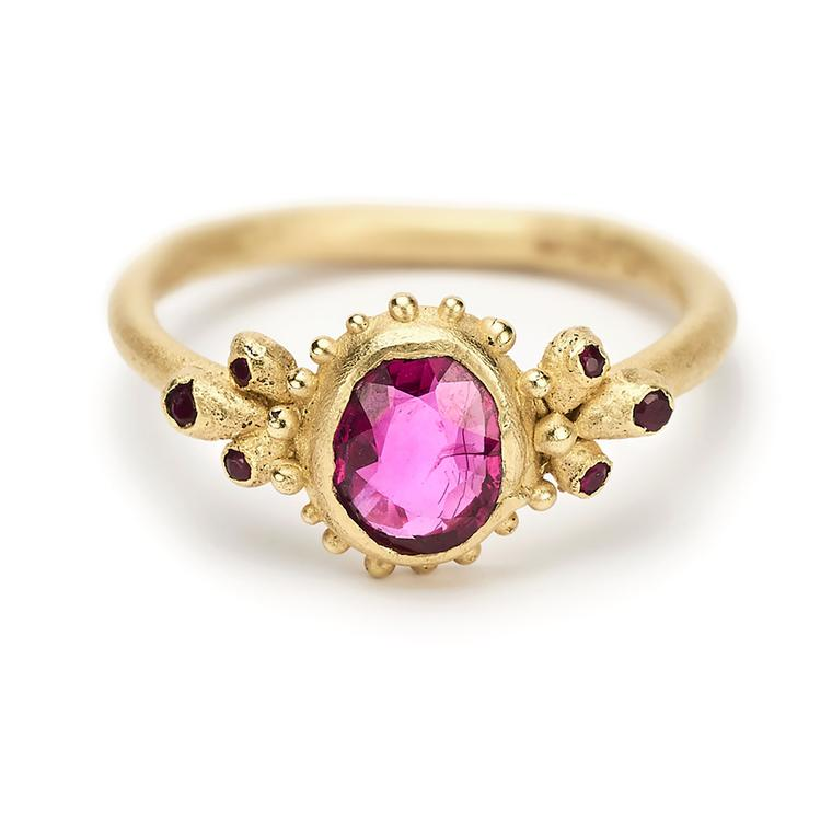Ruth Tomlinson ruby engagement ring