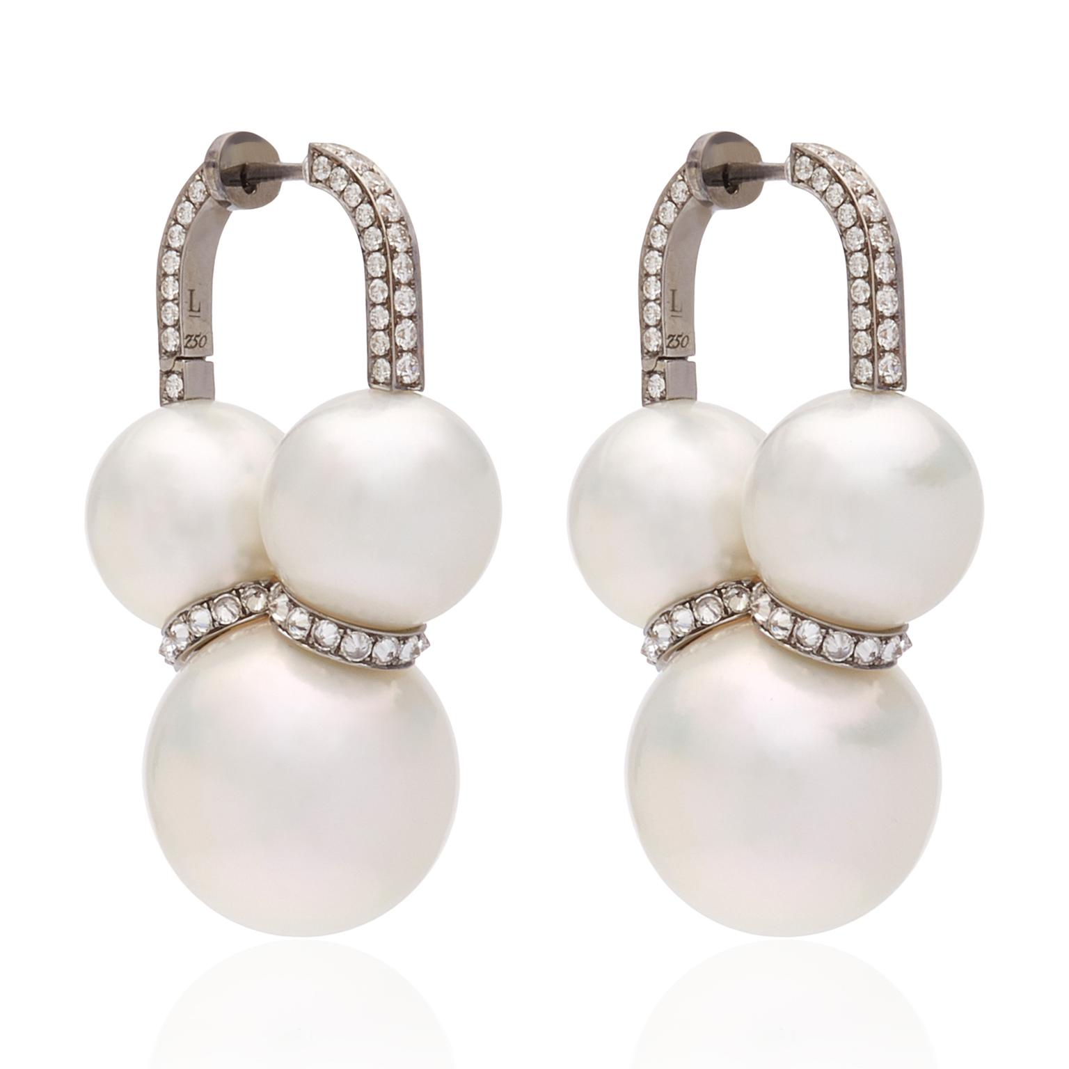 Mr Lieou pearls earrings