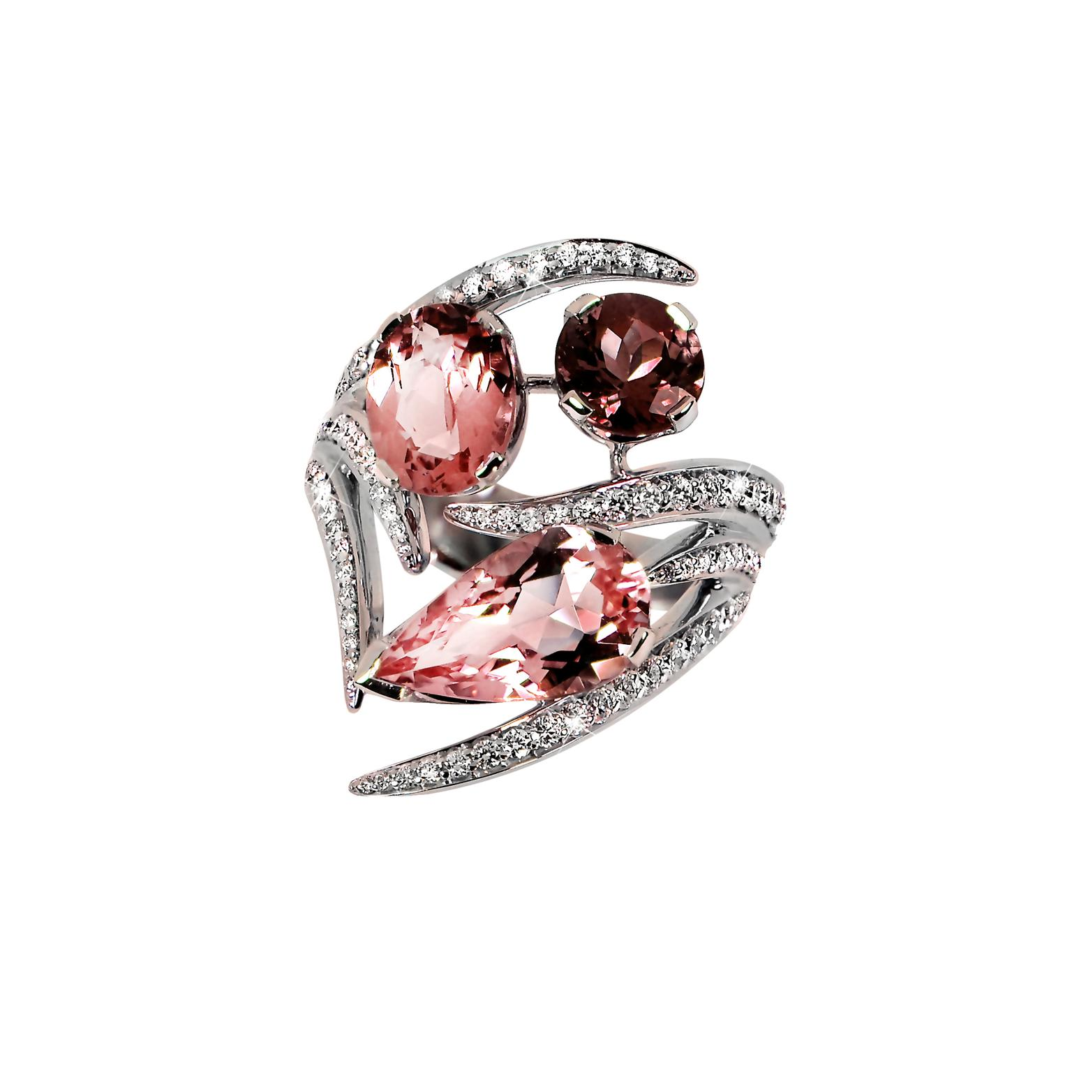 Shaun Leane morganite and pink tourmaline Aurora ring