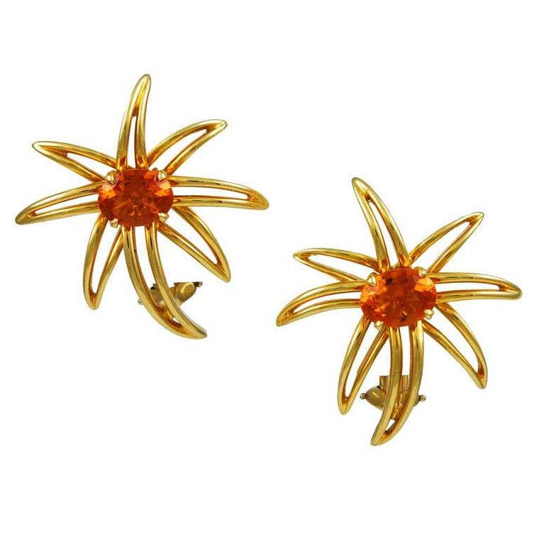 Tiffany citrine Fireworks earrings from the 1990s