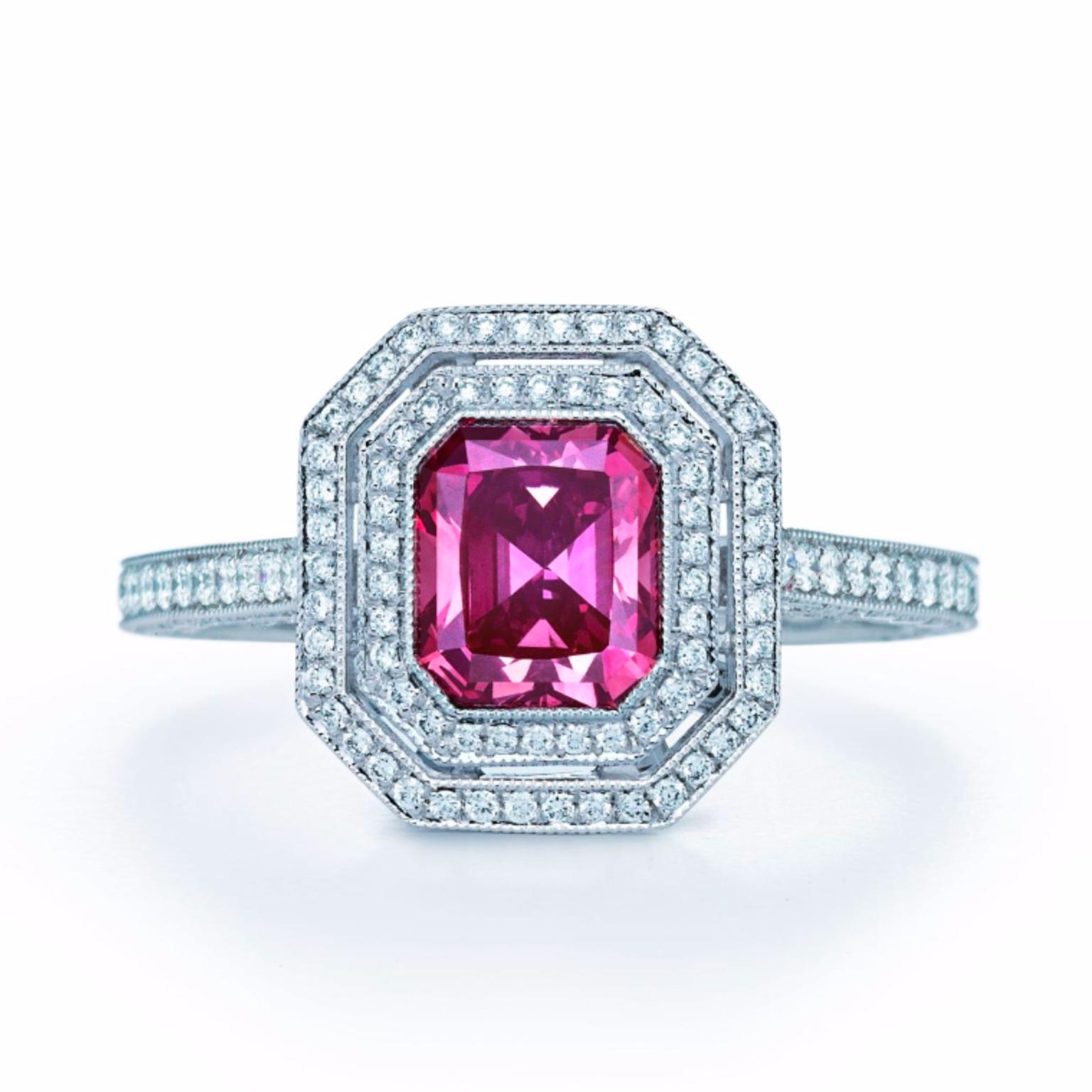 Tiffany Fancy Deep Pink diamond ring