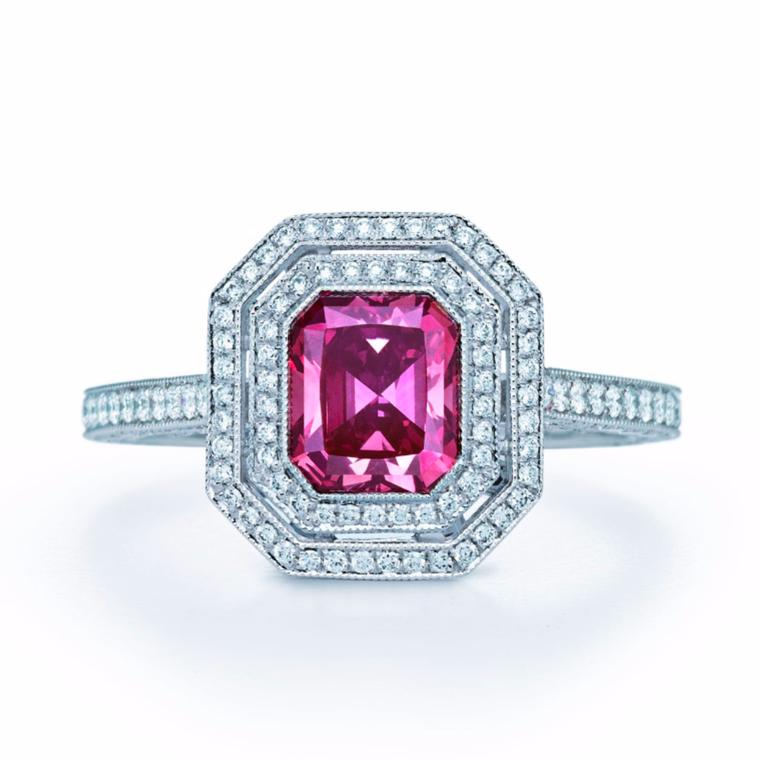 1.14-carat Fancy Deep Pink diamond ring