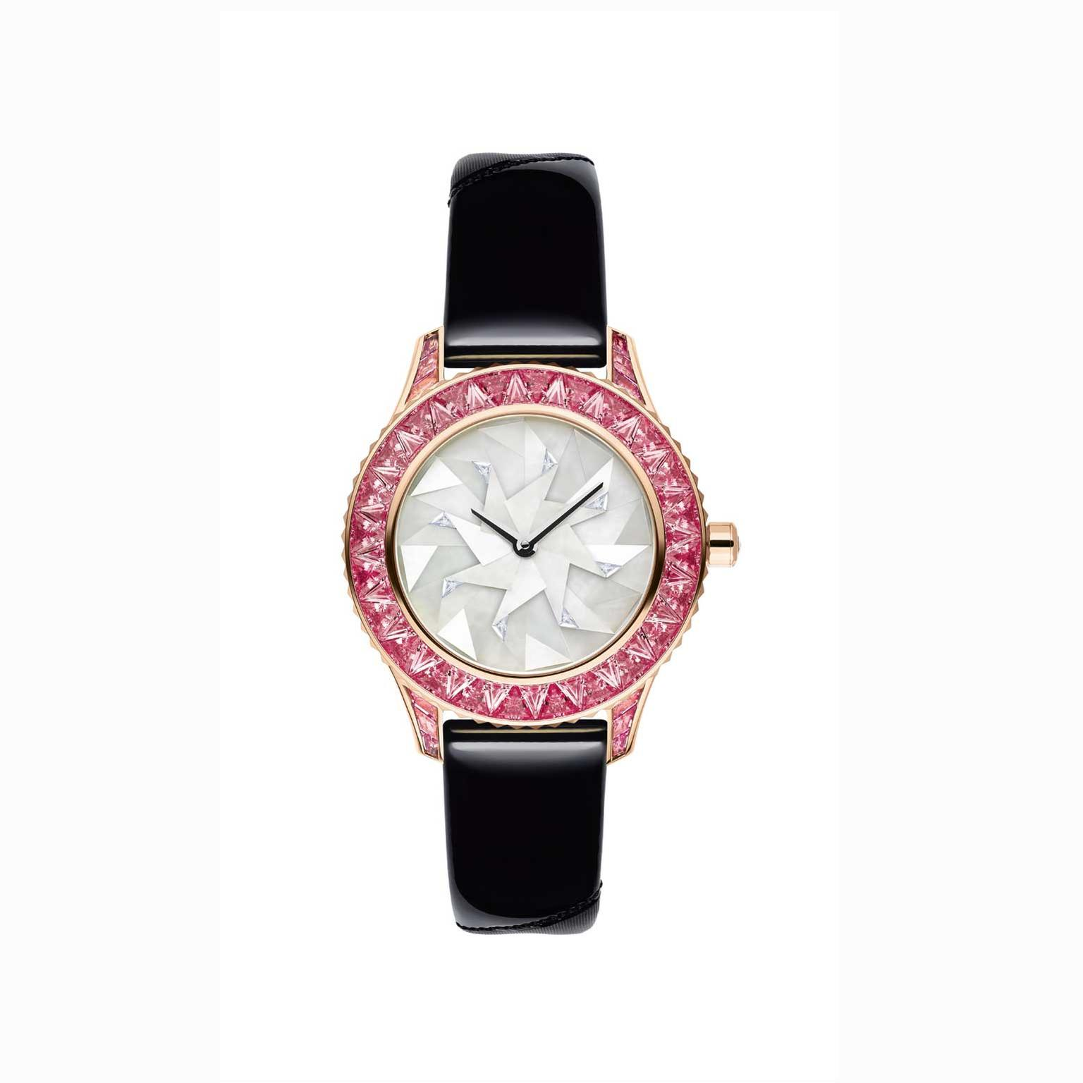 Dior Grand Soir Origami watch with pink sapphires