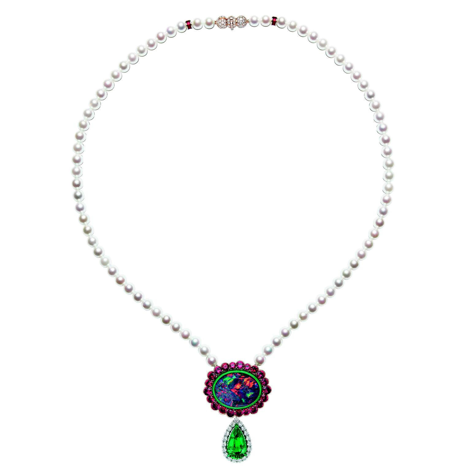 Dior et Moi high jewellery necklace with emerald