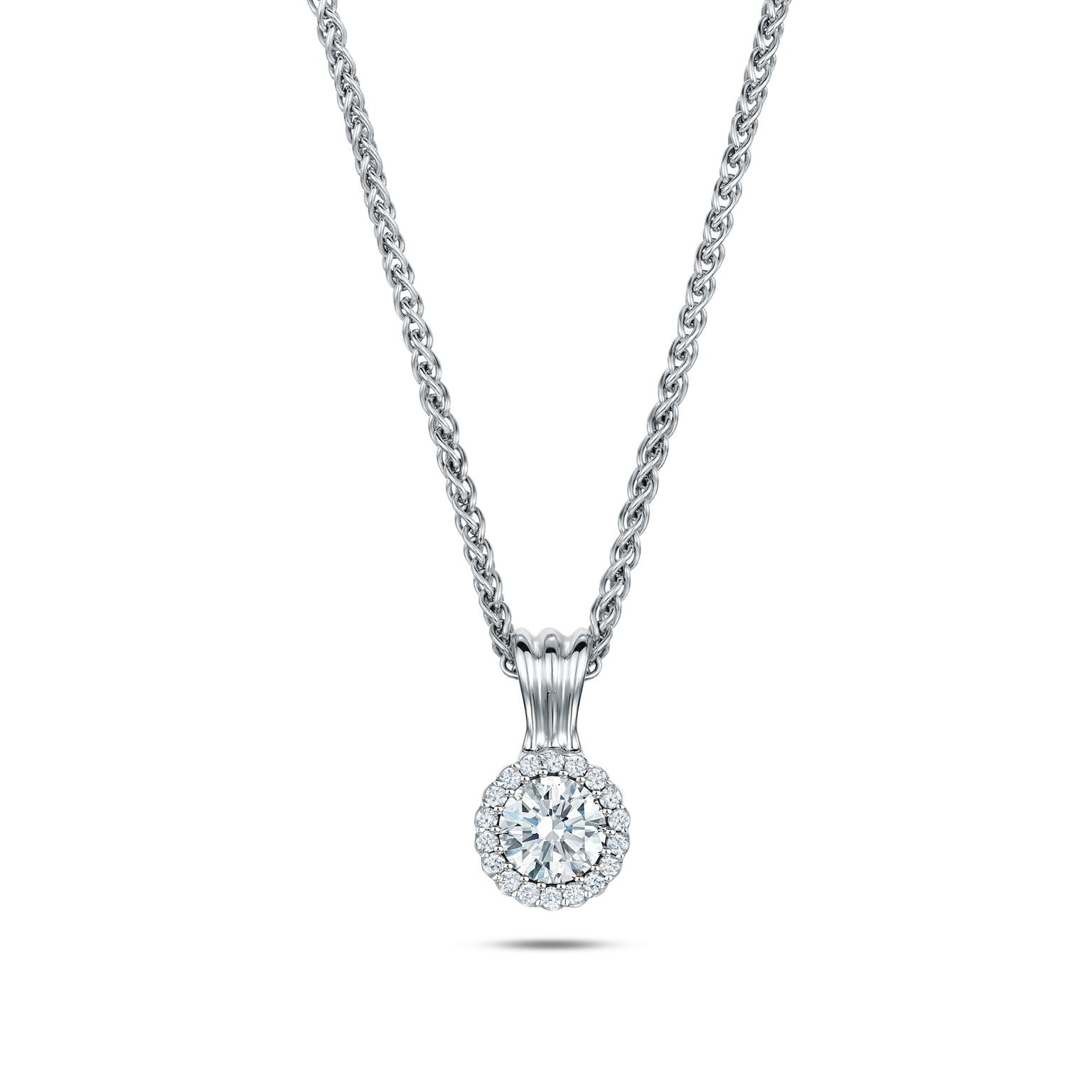Andrew Geoghegan Cannelé diamond necklace.