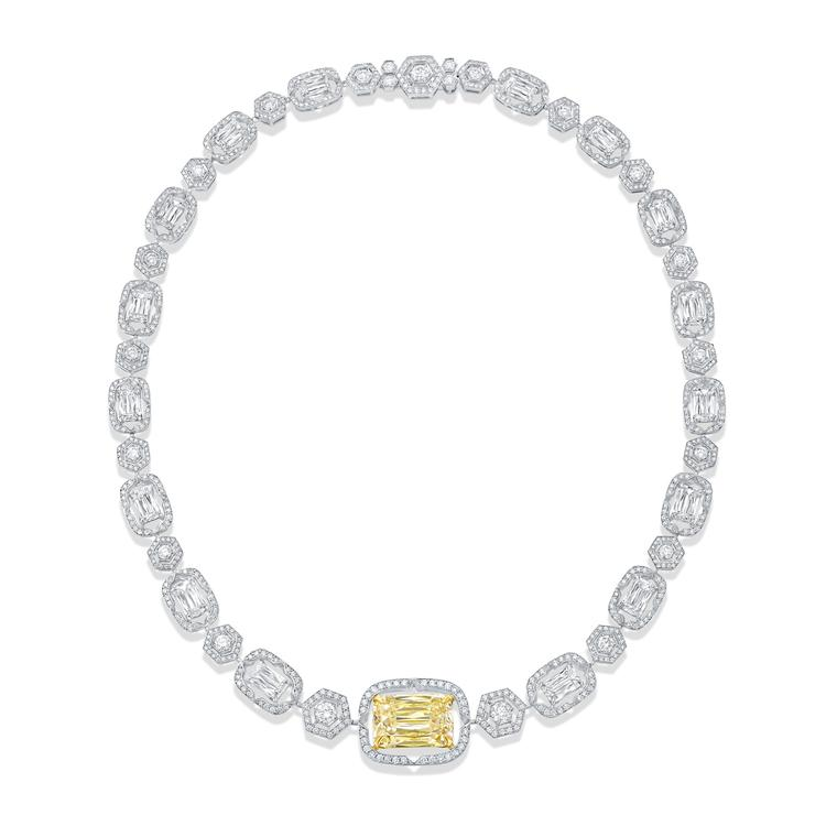 Boodles Mosaic yellow diamond necklace