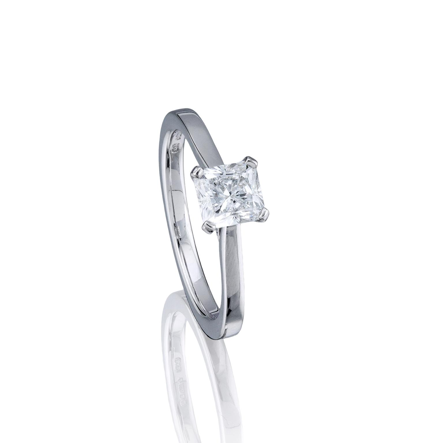 open rings engagement diamond raidiant in radiant gallery bezel a pave gold set ring yellow cut enr domed solitaire