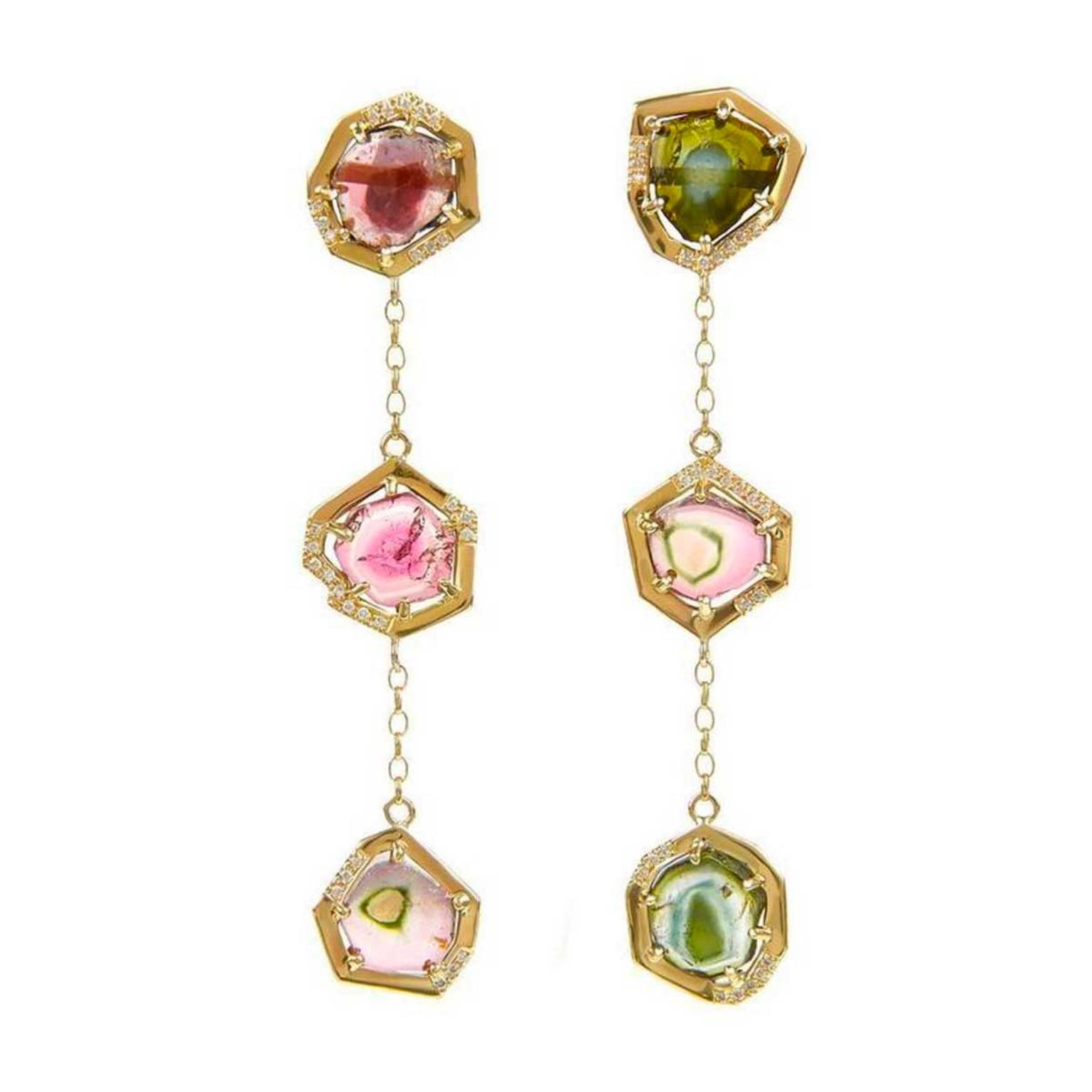 Tessa Packard Brighton Rocks watermelon tourmaline earrings