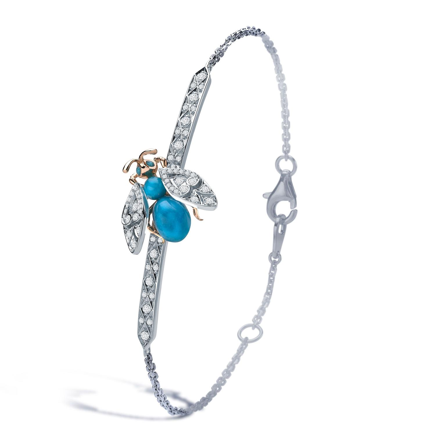 Garrard Enchanted Palace Jewelled Bug turquoise bracelet