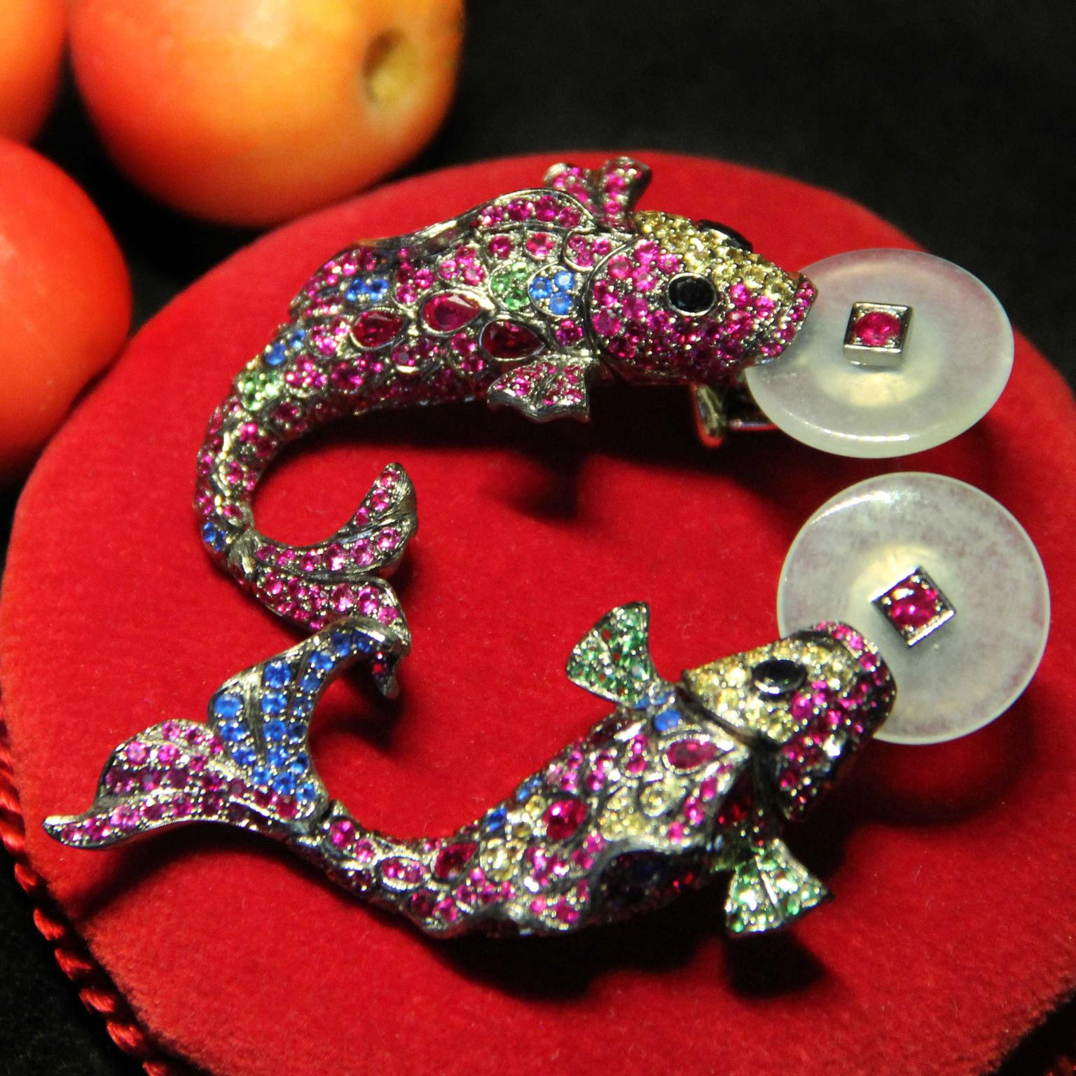 Lydia Courteille Koi carp earrings