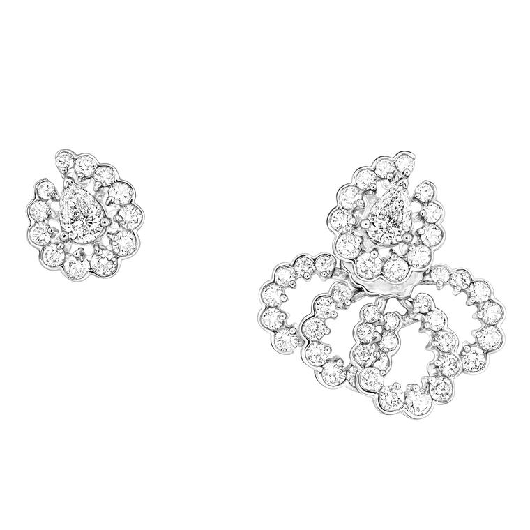 Archi Dior Milieu du Siècle Diamant mismatched earrings