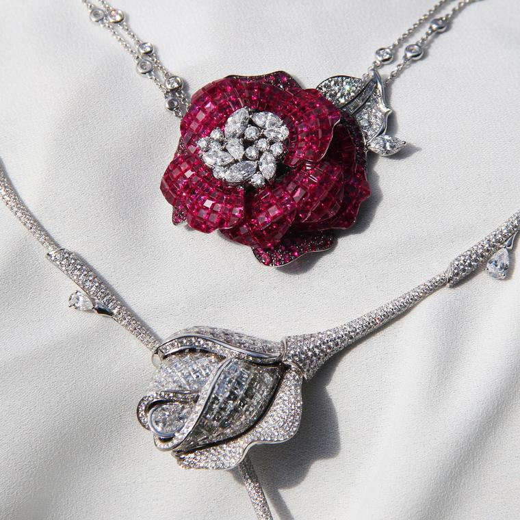 Stenzhorn Rose Red and Snow White high jewellery necklaces
