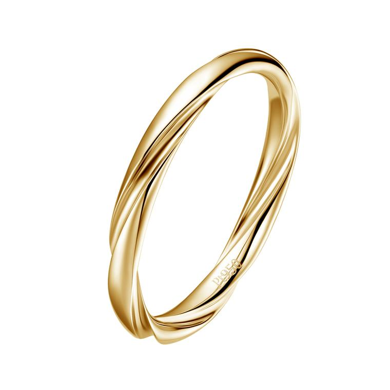 Fei Liu twisted yellow gold wedding band