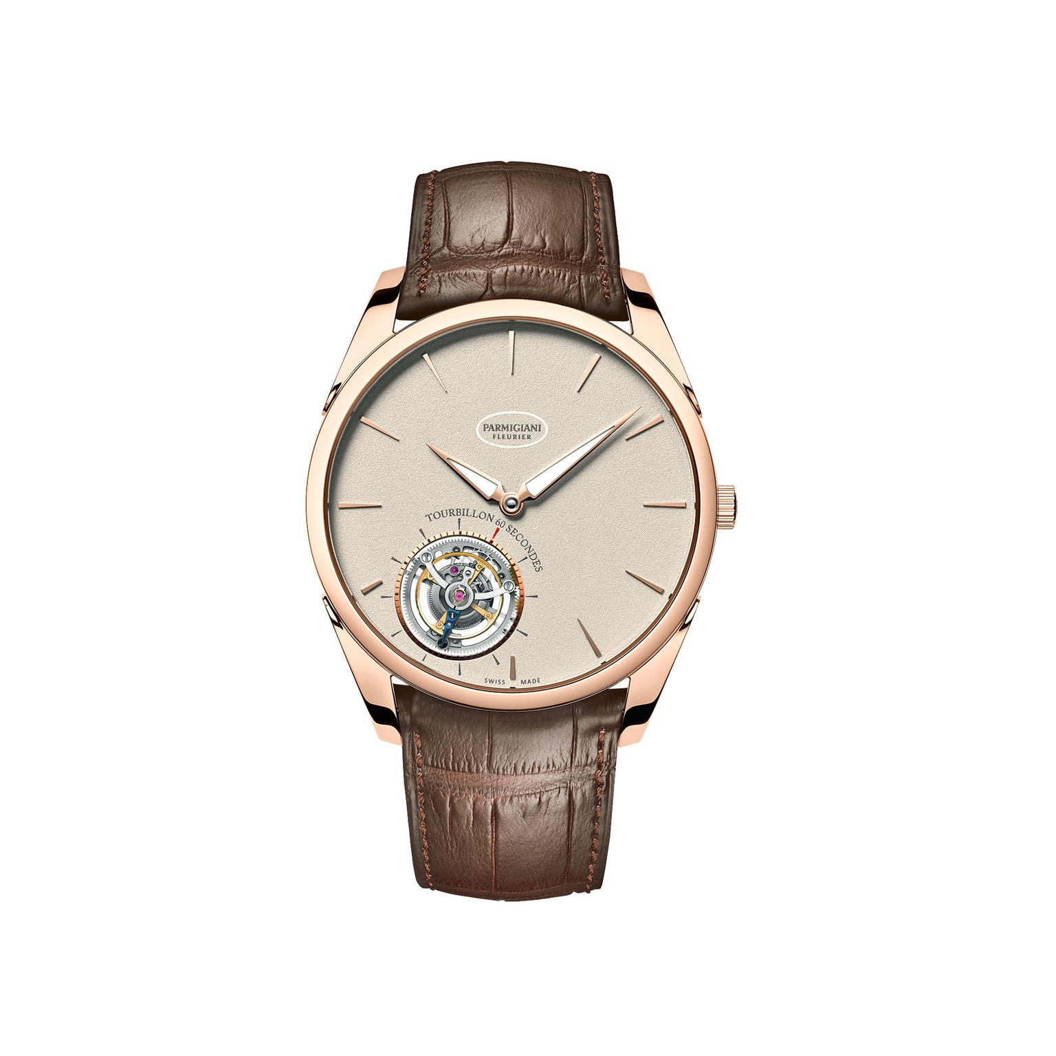 Parmigiani Tonda 1950 Tourbillon watch grained dial