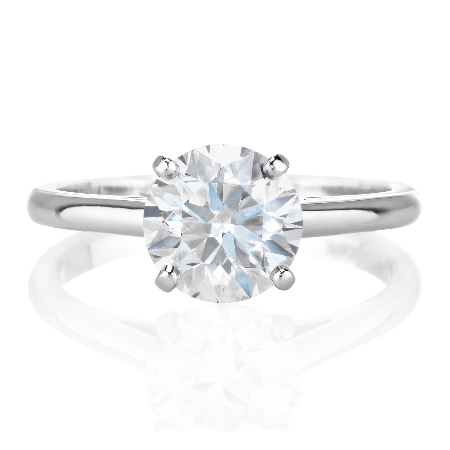 rings product diamond engagement setting abelini prong solitaire round ring
