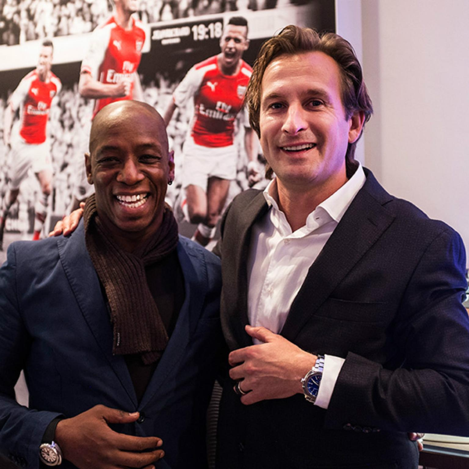 Ian Wright at JeanRichard SalonQP 2014