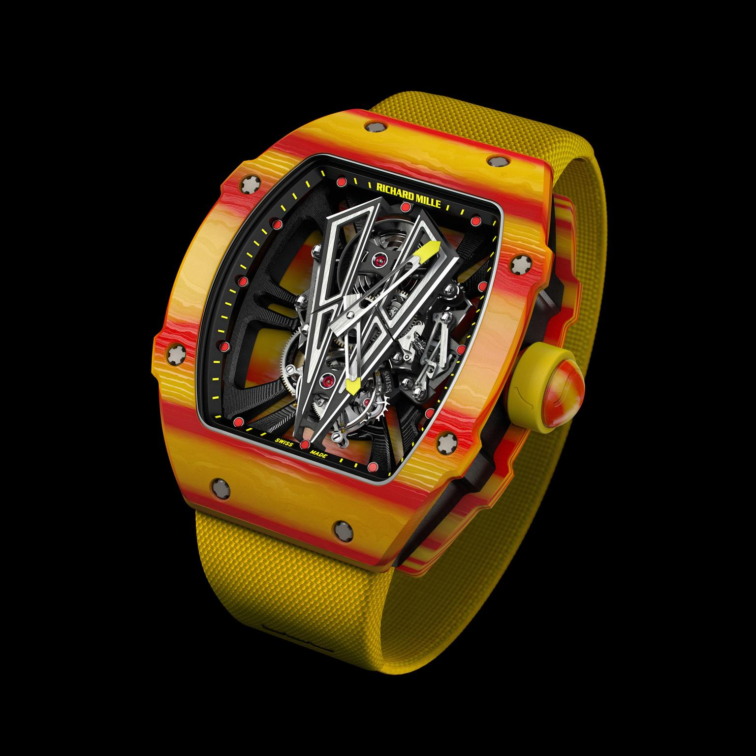 Rafael Nadal Richard Mille RM 27-03 watch skeletonised bridges