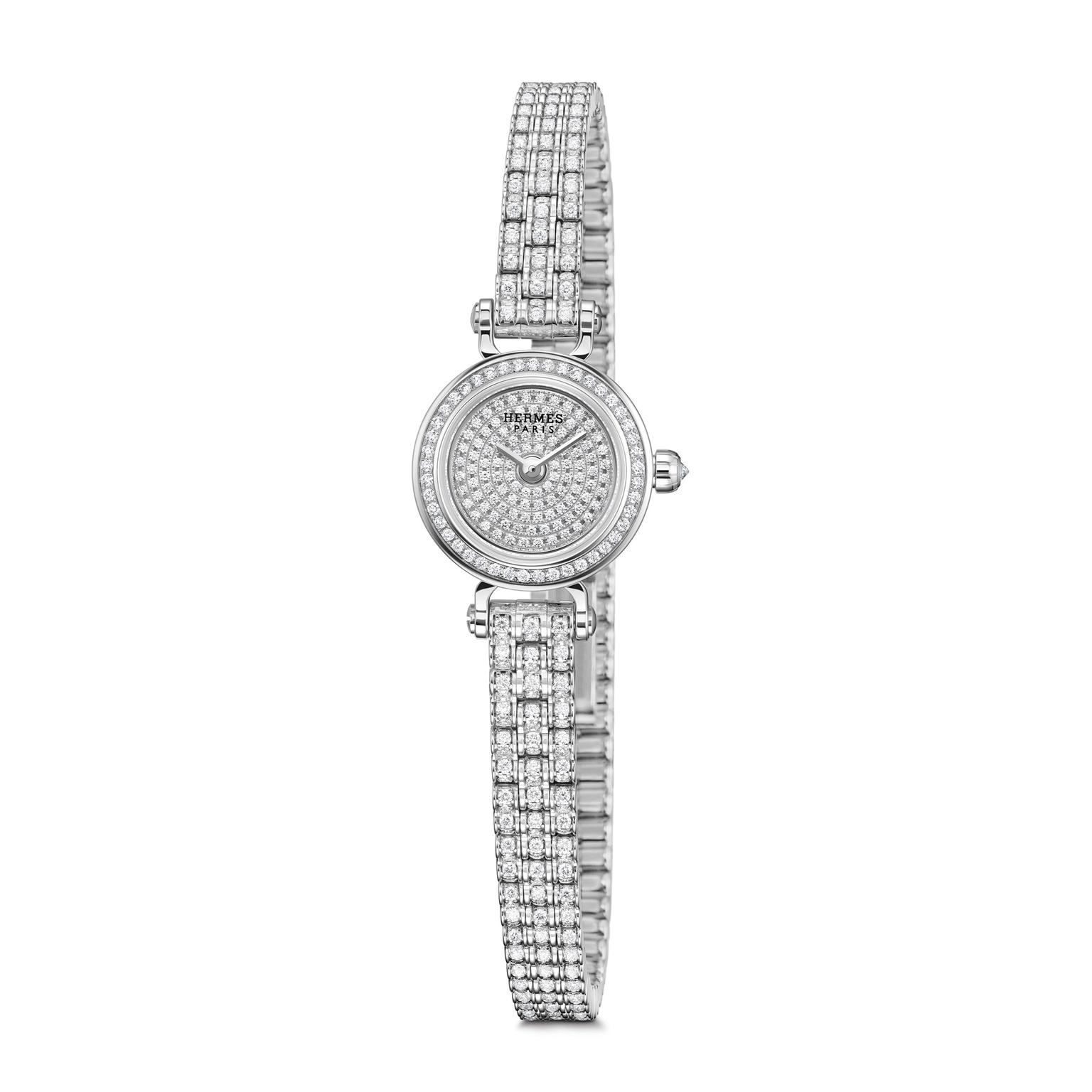 Hermes Faubourg Joaillerie diamond watch